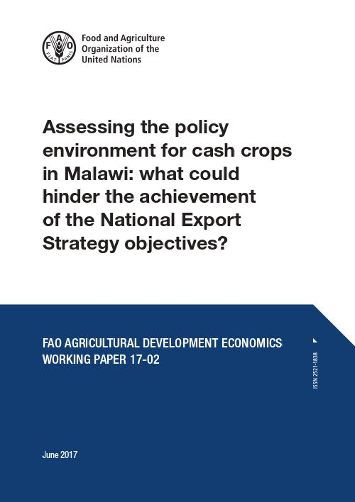 Assessing The Policy Environment For Cash Crops...   Documents   Gates Open  Research